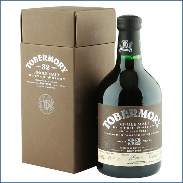 收購托本莫瑞32年  Tobermory 32 Year Old 1972 Oloroso Sherry Finish 70cl