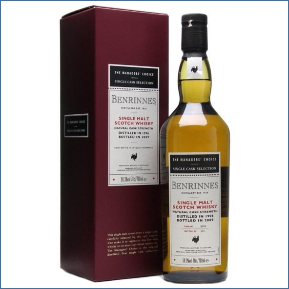 Benrinnes 1996 12 Year Old Managers' Choice Speyside Single Malt Scotch Whisky 70cl 59.3%