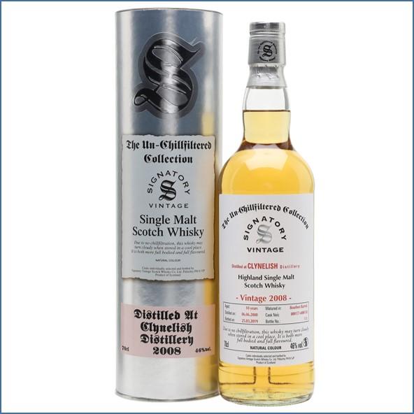 Clynelish 2008 10 Year Old 2019 Signatory Highland Single Malt Scotch Whisky 70cl 46%