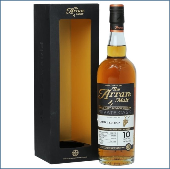 Arran 10 Year Old 2004  Private Cask 70cl 46%