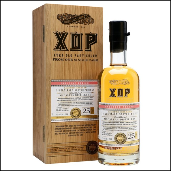 Macallan 1990 25 Year Old Xtra Old Particular Speyside Single Malt Scotch Whisky Douglas Laing 70cl 52%