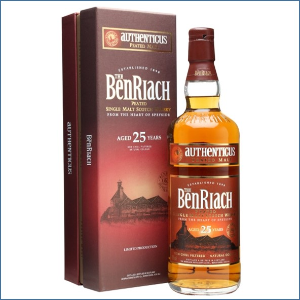 Benriach 25 Year Old Authenticus Peated Malt 70cl 46%