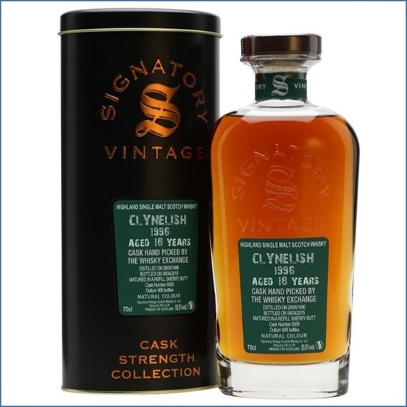 Clynelish 1996 18 Year Old Old 2015 Cask #6509 Signatory Exclusive for TWE 70cl 55.5%