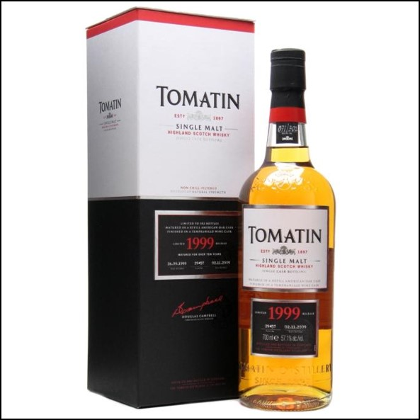Tomatin 1999 10 Year Old Cask #29457 70cl 57.1%