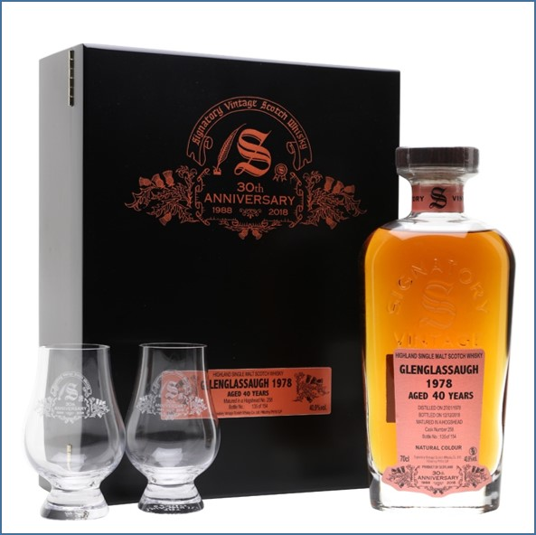 Glenglassaugh 1978 40 Year Old 30th Anniversary Highland Single Malt Scotch Whisky Signatory 70cl 40.9%