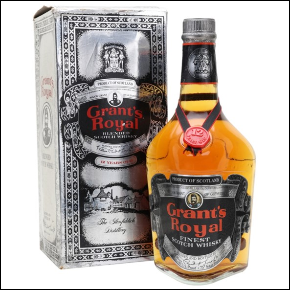 Grant's Royal 12 Year Old Bot.1980s Blended Scotch Whisky 75cl 43%