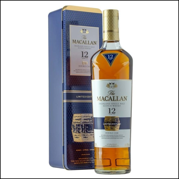 收購麥卡倫12年雙桶 鐵盒版/ Macallan 12 Year Double Cask  Gift Tin 70cl 40%