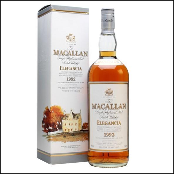 收購麥卡倫12年 ELEGANCIA 1992-圓瓶 /Macallan 1992 Elegancia Bot.2004 100cl 40%