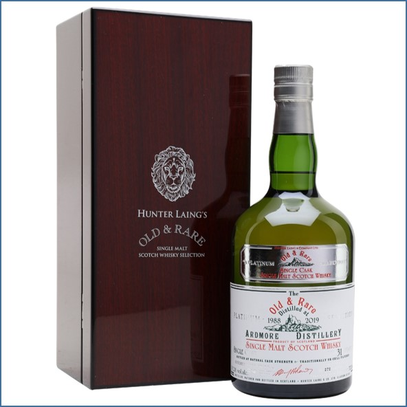 Ardmore 31 Year Old 1988 Old & Rare Highland Single Malt Scotch Whisky Hunter Laing 70cl 50.2%