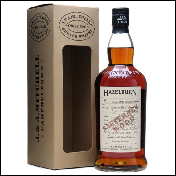 Hazelburn 8 Year Old 2002 Sauternes Finish Campbeltown Single Malt Scotch Whisky 70cl 55.9%