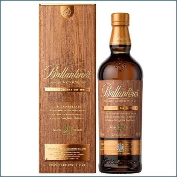 Ballantine's 21 Year Old Signature Oak Edition European Oak Casks Limited Release 70cl 40%