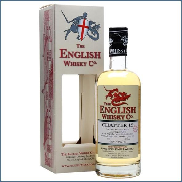 English Whisky Co. Chapter 15 Heavily Peated 70cl 46%