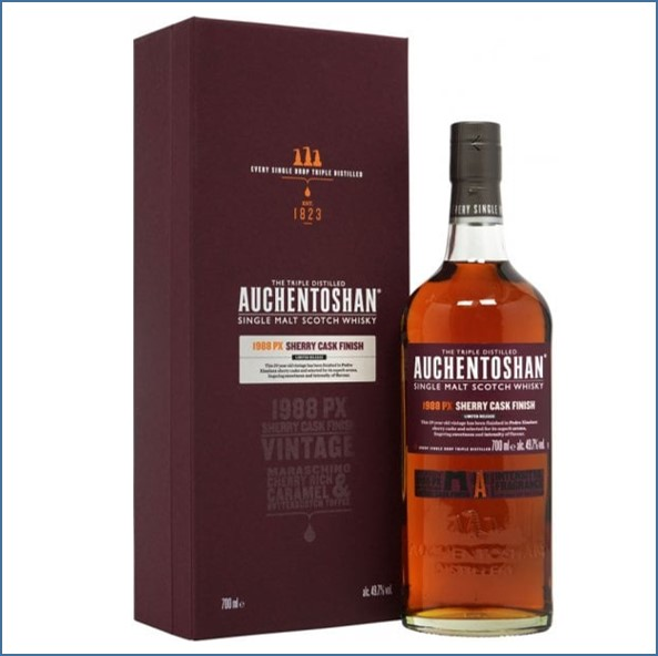 Auchentoshan 29 Year Old  PX Sherry Cask Finish 29 Year Old 1988 75cl 49.7%