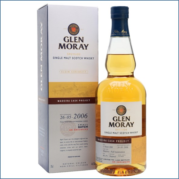 Glen Moray 13 Year Old Madeira Cask Project 2006 70cl 46.3%