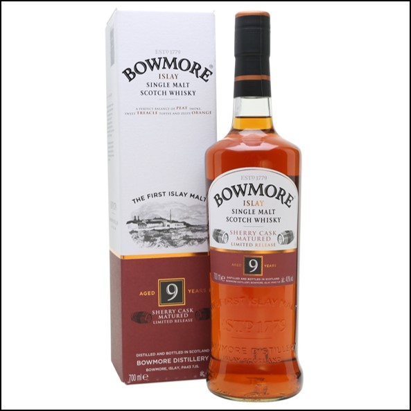 Bowmore 9 Year Old Sherry Cask 70cl 40%/波摩9年收購