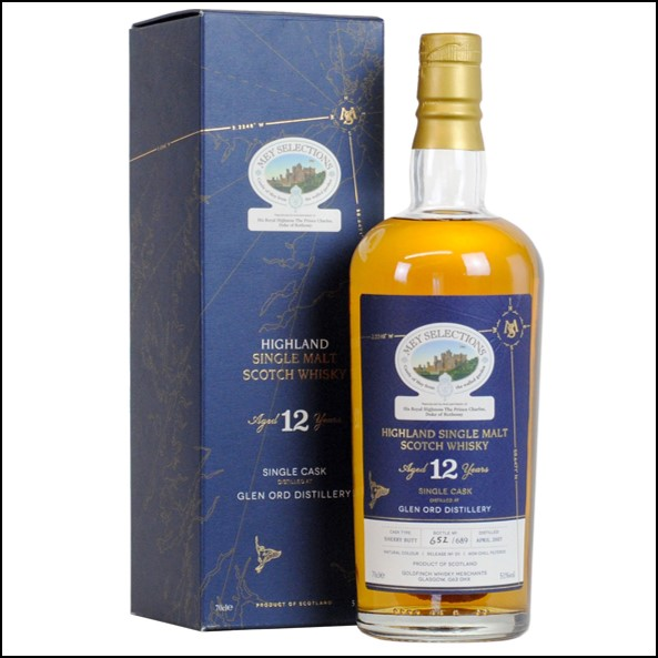 Glen Ord 12 Year Old 2007 - Mey Selections Rare Cask Series 001 70cl 51%