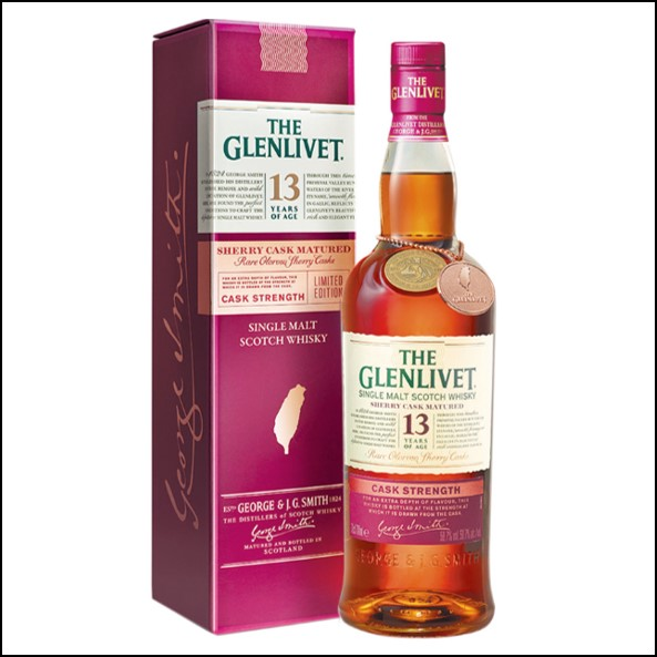 GLENLIVET 13 YEAR OLD  Sherry Cask Stength Taiwan 70cl 58.7%