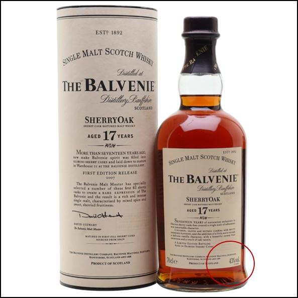 Balvenie 17 Year Old Sherry Oak 70cl 43%