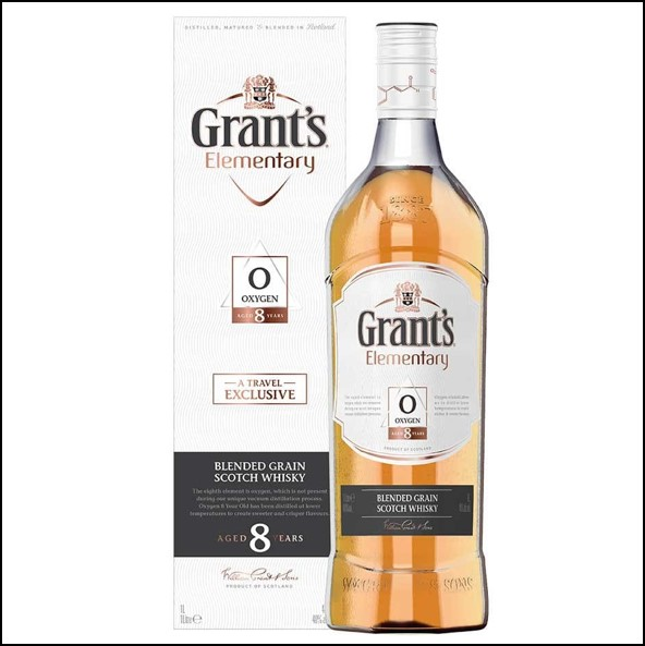 Grant's Elementary Oxygen 8 Year Old Blended Scotch Whisky 100cl 40%