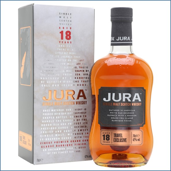 Isle Of Jura 18 Year Old - Travel Exclusive  Bordeaux Cask Island Single Malt Scotch Whisky 70cl 42%