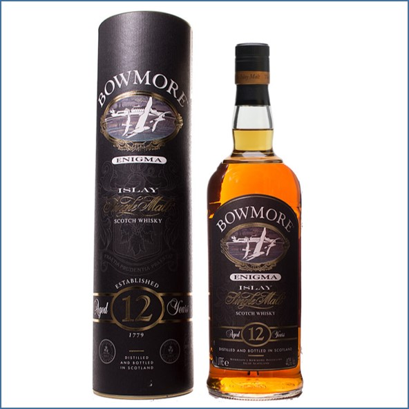 Bowmore 12 Year Old Enigma old Label 100cl 40%