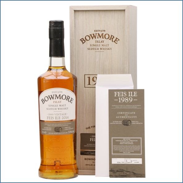 Bowmore 24 Year Old 1989 Vintage - Feis Ile 2014 70cl 53.3%
