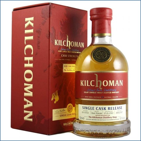 Kilchoman 2017 5 years old Rum Cask Finish 2012 70cl 59.1%