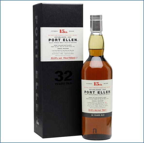 Port Ellen 1983 32 Year Old 15th Release 2015 70cl 53.9%