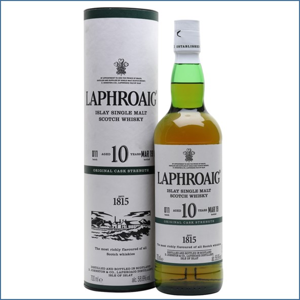 拉佛格10年原酒收購 Laphroaig 10 Year Old Cask Strength Batch 011 Bot.2019 70cl 58.6%