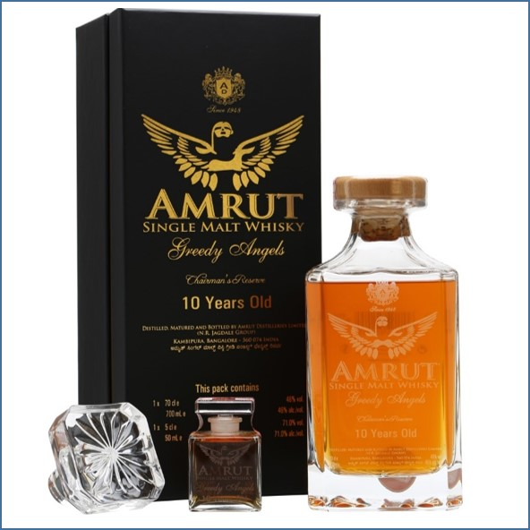 Amrut Greedy Angels 10 Year Old Plus Miniature 75cl 47.7%