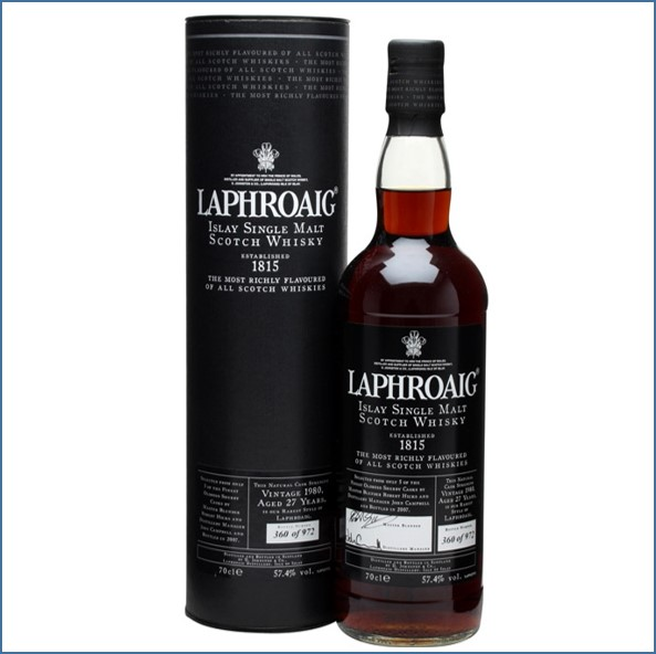 Laphroaig 27 Year Old 1981 Sherry Cask 70cl 56.6%