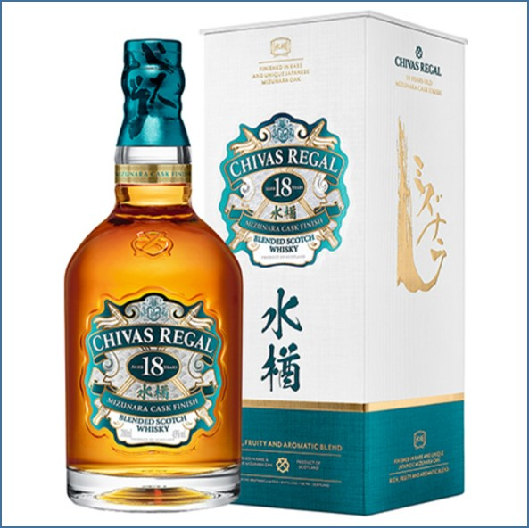Chivas Regal 18 Year Old Mizunara Finish 70cl 43%