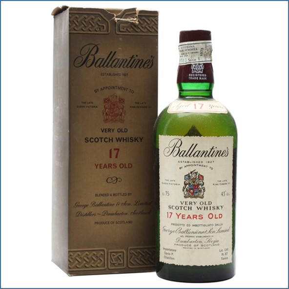 Ballantine's 17 Year Old Bot.1973 Blended Scotch Whisky 75cl 43%
