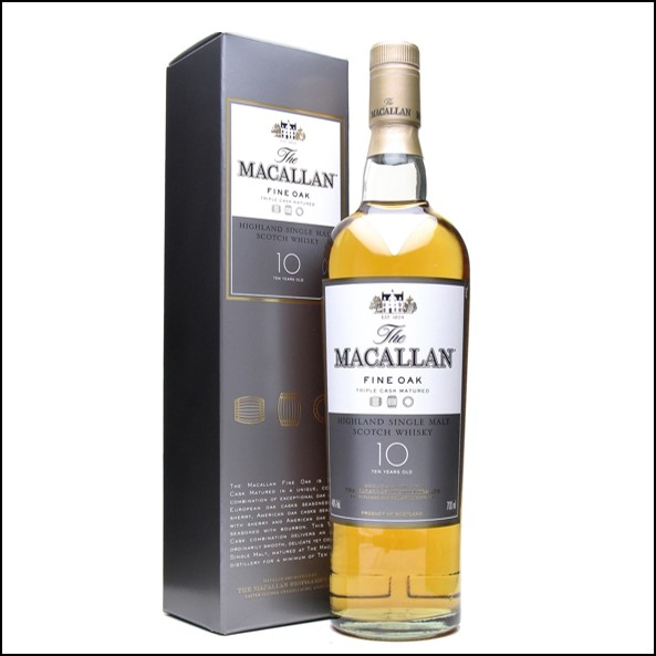 麥卡倫10年  Macallan Fine Oak 10 Year Old 70cl 40%