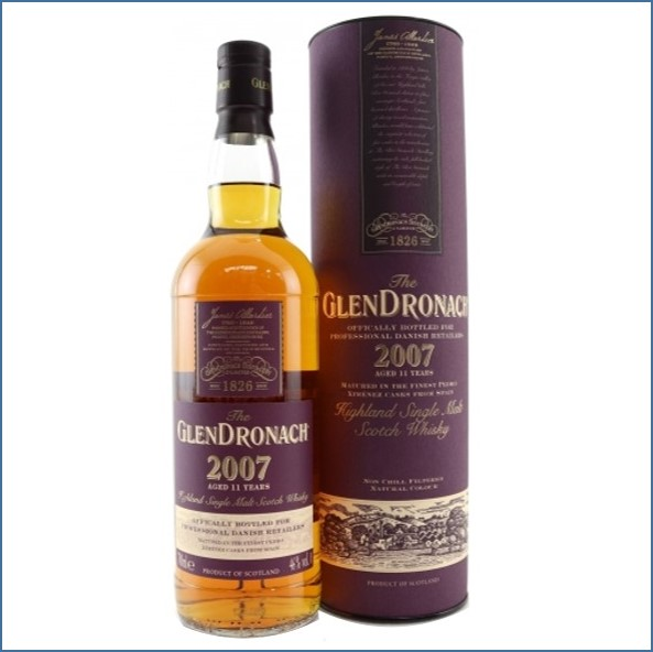 Glendronach 2007 Pedro Ximenez Casks 11 Year Old 2018 Single Highland Malt Whisky 70cl 46%