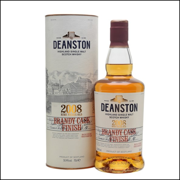 DEANSTON 2008 9 Year Old Brandy Cask Finish 70cl 56.4%