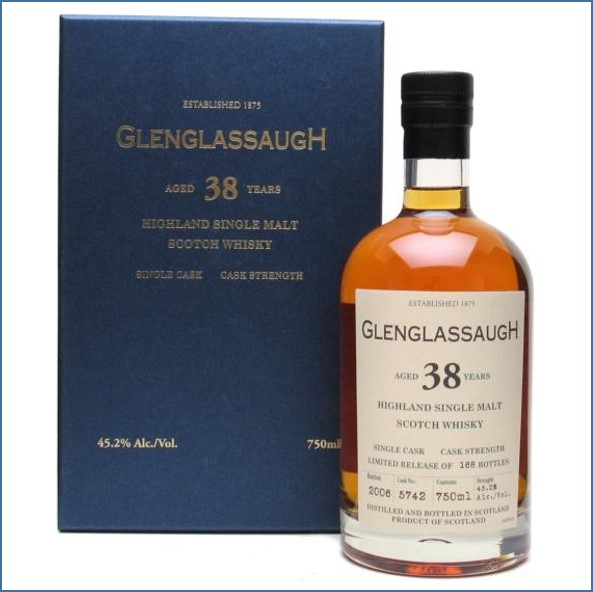 Glenglassaugh 1967 38 Year Old Cask# 5742 Highland Single Malt Scotch Whisky 75cl  45.2%