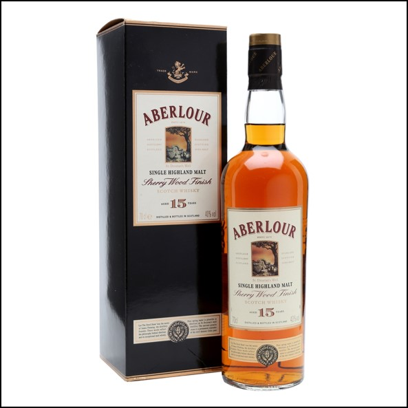 ABERLOUR 15 YEAR OLD Sherry Wood 70cl 40% 收購亞伯樂 15年 雪莉桶