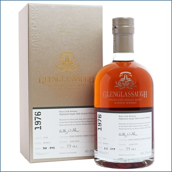 Glenglassaugh 1976 Cask #3170 39 year old Pedro Ximenez Sherry Finish Rare Cask Release Batch 2 70cl 40.3%