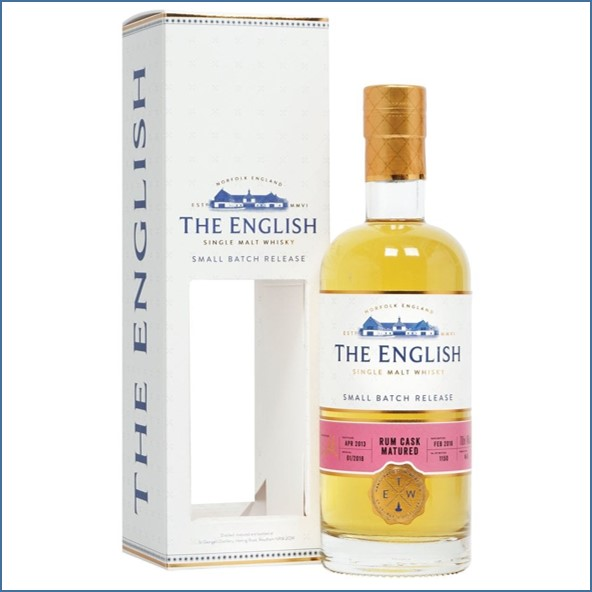 The English Whisky Small Batch  Rum Cask Matured 2013 Bot.2018 70cl 46%