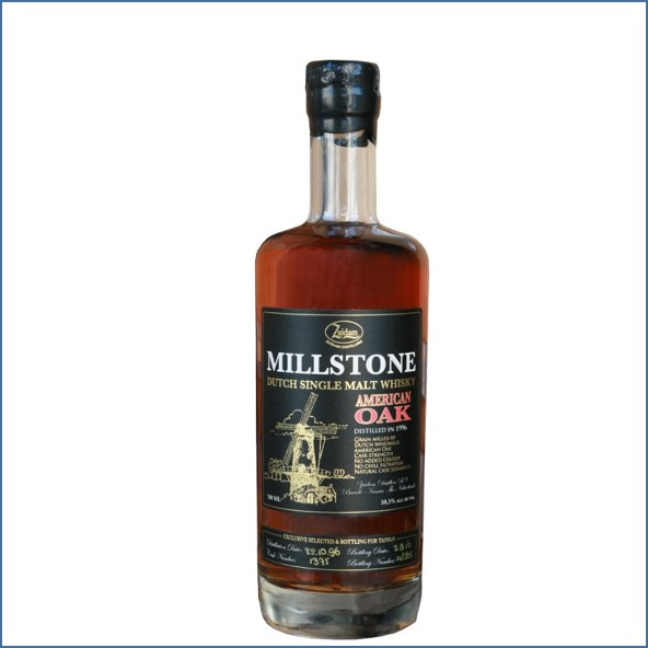 Millstone 1996-2016 American Oak Cask Dutch Single Malt Zuidam Whisky 70cl 50.5%
