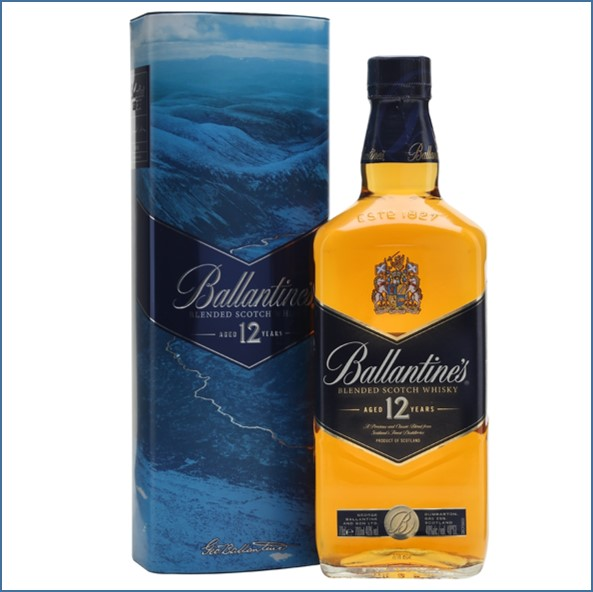 Ballantine's 12 Year Old Gift Tin Blended Scotch Whisky 70cl 40%