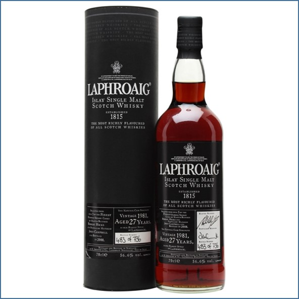 Laphroaig 27 Year Old 1980 Sherry Cask 70cl 57.4%