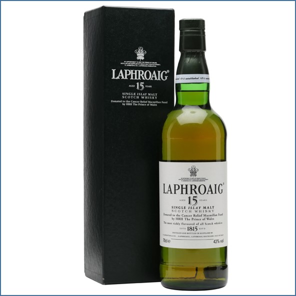 Laphroaig 15 Year Old Cancer Relief Macmillan Fund 70cl 43%