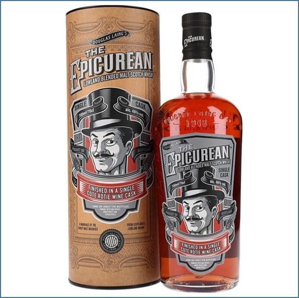 The Epicurean Cote Rotie Wine Finish Lowland Blended Malt Scotch Whisky Douglas Laing 70cl 48%
