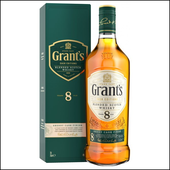 Grant's Sherry Cask Finish 8 Years Old Blended Scotch Whisky 70cl 40%