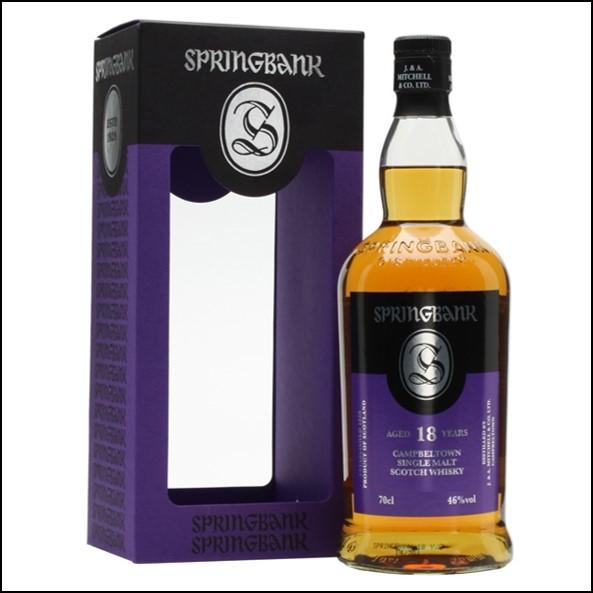 雲頂威士忌18年收購/Springbank 18 Year Old Campbeltown Single Malt Scotch Whisky 70cl 46%