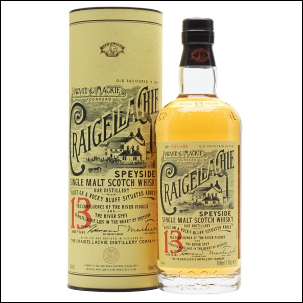Craigellachie 13 Year Old Speyside Single Malt Scotch Whisky 70cl 46%