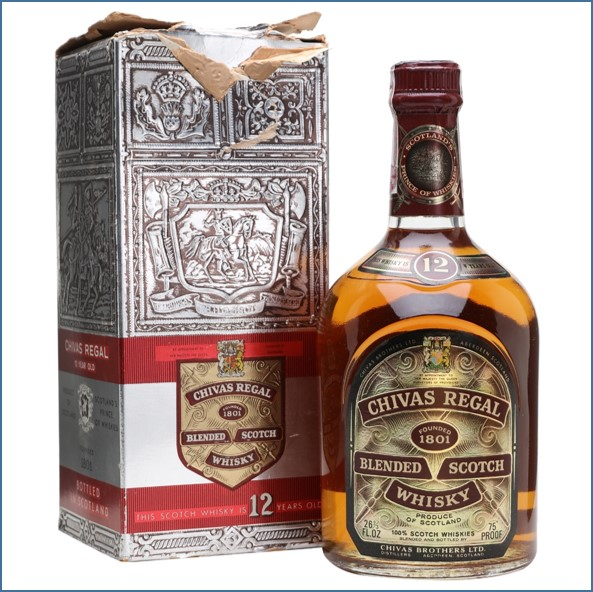 Chivas Regal 12 Year Old Bot.1970s Blended Scotch Whisky 75cl 43%
