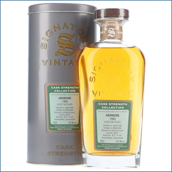Ardmore 16 Year Old 1990 Signatory 70cl 57.8%